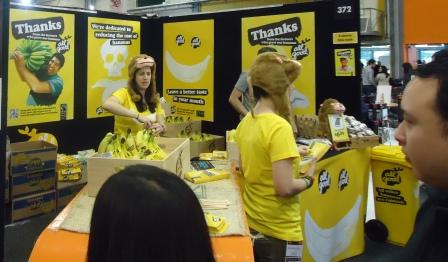 Fairtrade banana stand