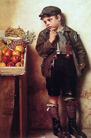 Eyeing The Fruit Stand John George Brown 1831-1913
